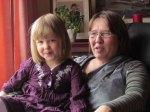 Sára and grandma Bjørghild