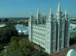 Looking down on the Mormon Temple