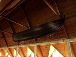 Boat hanging in the rafters
