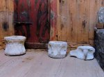 Whalebone stools in smokehouse