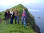 Jenny, Jonathan, Natasha, and John in Mykines, Faroe Islands (2006)