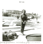Jennifer Jacobsen playing miniature golf (1963, age 17)
