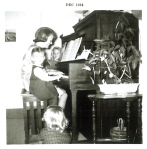 Jennifer Jacobsen (at piano; 1964, age 18)