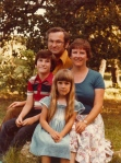 The Henke family: Curt, Jenny, Jonathan, and Natasha (1982)